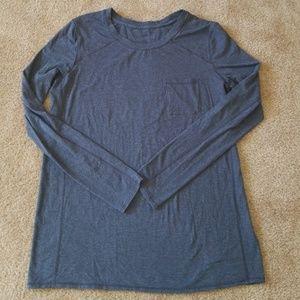 Lululemon gray long sleeve shirt w/pocket, M/L?